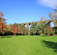 Two stone viaducts